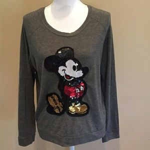 [Disney] Soft Grey Mickey Mouse Sequin Sweater